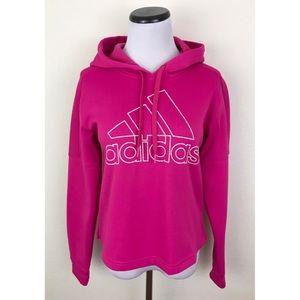 NWT Adidas Pink Graphic Sweatshirt Hoodie